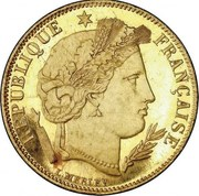 5 francs Cérès (Or) -  avers