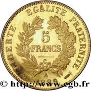 5 francs Cérès (Or) -  revers
