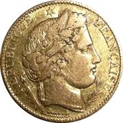 10 francs Cérès IIème République -  avers