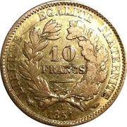 10 francs Cérès IIème République -  revers