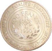100 francs Charlemagne -  revers