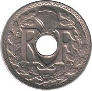 5 centimes Lindauer (maillechort - point avant et après date) -  avers