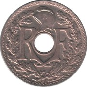 10 centimes Lindauer (maillechort avec points avant et après la date) -  avers