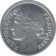 1 franc Morlon (Aluminium-magnésium, lourde (1.6g)) -  avers