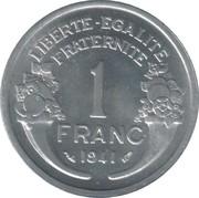 1 franc Morlon (Aluminium-magnésium, lourde (1.6g)) -  revers