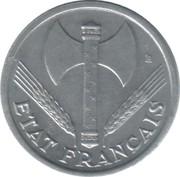 1 franc Francisque (Aluminium-magnésium, légère (1,3g)) -  avers