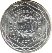 10 euros Pays de la Loire (3e type) -  revers