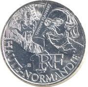 10 euros Haute-Normandie (3e type) -  avers