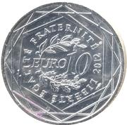 10 euros Haute-Normandie (3e type) -  revers
