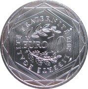10 euros Bourgogne (3e type) -  revers