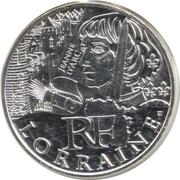 10 euros Lorraine (3e type) -  avers