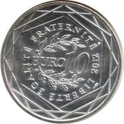10 euros Lorraine (3e type) -  revers
