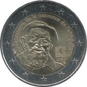 2 euros Abbé Pierre -  avers