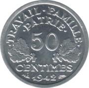 50 centimes Francisque (Lourde (0.8g)) -  revers