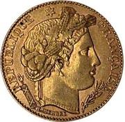 10 francs Cérès (IIIème République) -  avers