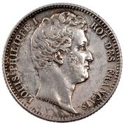 1 franc Louis-Philippe (tête nue) -  avers