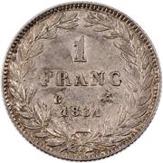 1 franc Louis-Philippe (tête nue) -  revers