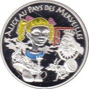 1½ euros Alice au pays des merveilles -  revers