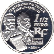 1½ euros Entente cordiale - revers