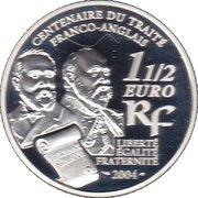 1½ euros Entente cordiale -  avers