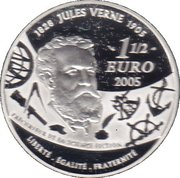 1½ euros 20 000 lieues sous les mers -  revers