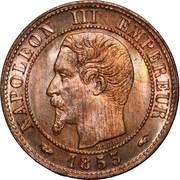 1 centime Napoléon III (tête nue) -  avers