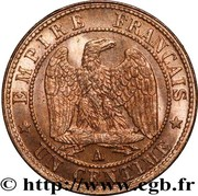 1 centime Napoléon III (tête nue) -  revers