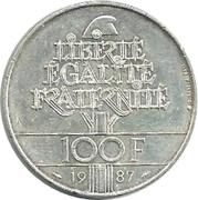 100 francs Egalité - La Fayette -  revers