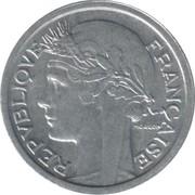 1 franc Morlon (aluminium, légère) -  avers