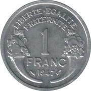 1 franc Morlon (aluminium, légère) -  revers