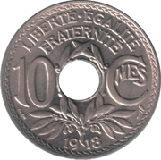 10 centimes Lindauer (non souligné) -  revers