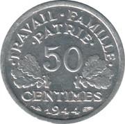 50 centimes Francisque (Duralumin, légère (0.7g)) -  revers