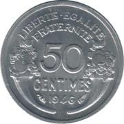 50 centimes Morlon (Aluminium, légère (0.7g)) -  revers