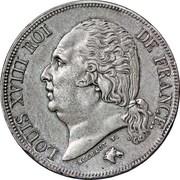 2 francs Louis XVIII -  avers
