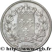 2 francs Louis XVIII -  revers