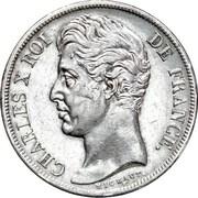 2 francs Charles X -  avers