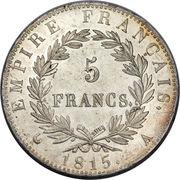 5 Francs Napoleon Empereur (les cent jours) -  revers