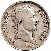 1 franc Napoléon I (tête laurée, République française) -  avers