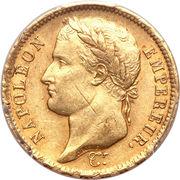 40 francs Napoléon I (tête laurée, République française) -  avers