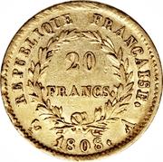 20 francs Napoléon (Tête laurée, république française) -  avers