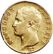 20 francs - Napoléon Tête nue, Calendrier Grégorien -  avers