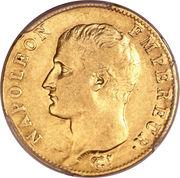 20 francs Napoléon Empereur (tête nue, calendrier révolutionnaire) -  avers