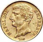 20 francs Napoléon empereur (buste intermédiaire) -  avers