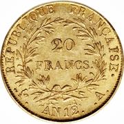 20 francs Napoléon empereur (buste intermédiaire) -  revers
