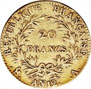 20 francs Bonaparte (Premier consul) -  revers