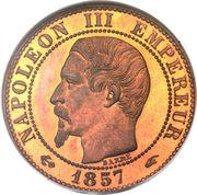 5 centimes Napoléon III (Tête nue) -  avers