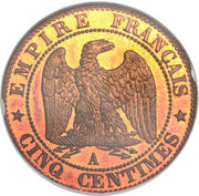 5 centimes Napoléon III (Tête nue) -  revers