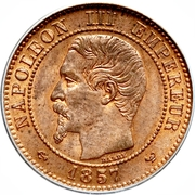 2 centimes Napoléon III (Tête nue) -  avers
