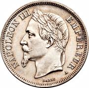 2 francs Napoléon III (tête laurée) -  avers