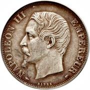 2 francs Napoléon III (tête nue) -  avers
